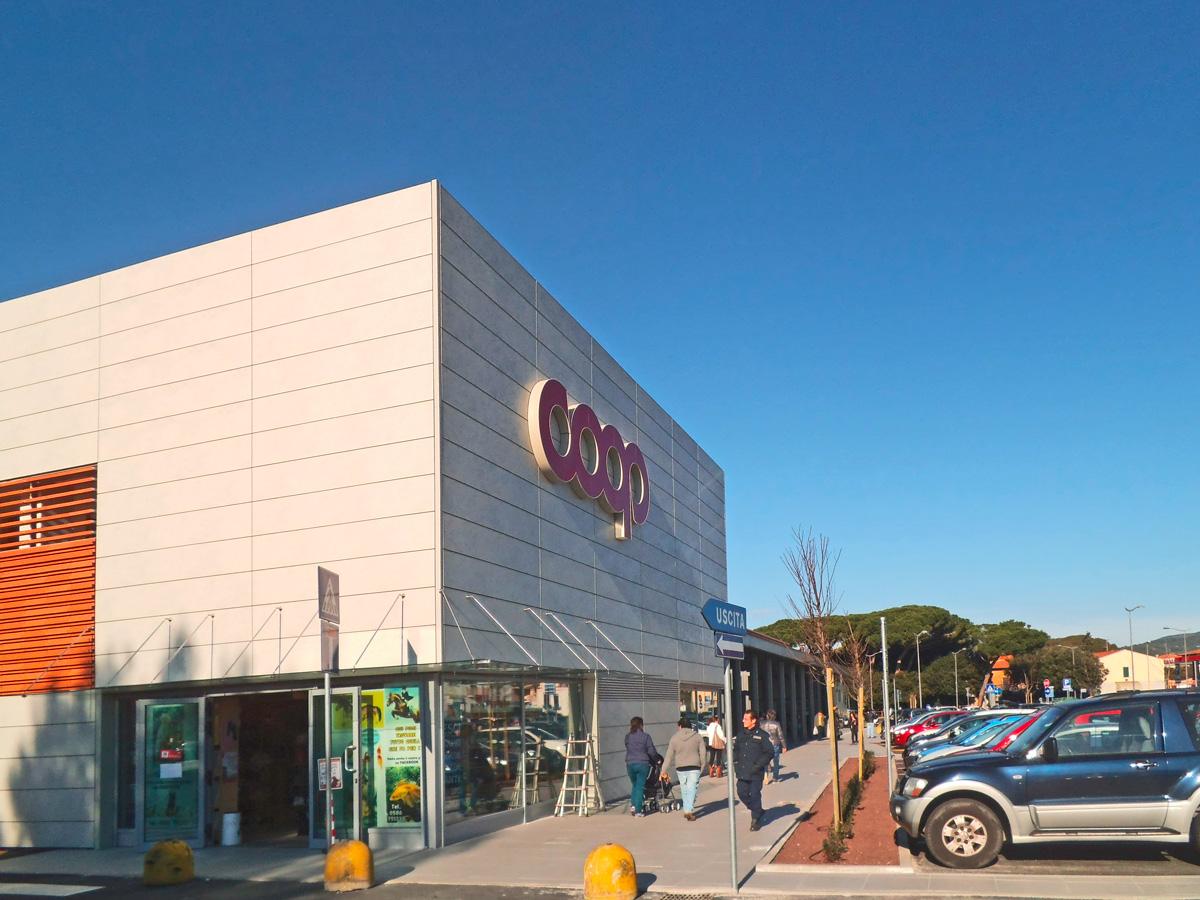 miglioramento sismico edificio commerciale coop rosignano